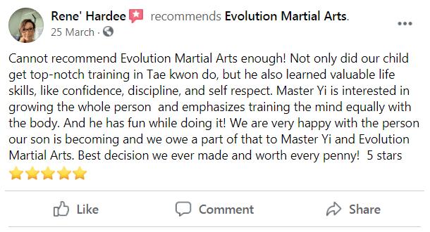 Review 2, Evolution Martial Arts Westborough MA