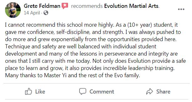 Review 3, Evolution Martial Arts Westborough MA